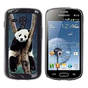 TopCaseStore / la caja del caucho duro de la cubierta de protección de la piel - Cute Panda - Samsung Galaxy S Duos S7562