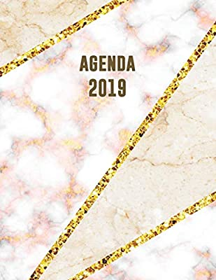 Agenda 2019: Trendy & Hippe Planner | Beige Roze Goud Marmer ...