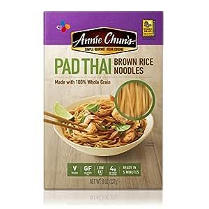 Annie Chun's Gluten-Free Brown Rice Noodles, Pad Thai, Vegan, 8-oz (Pack of 6)