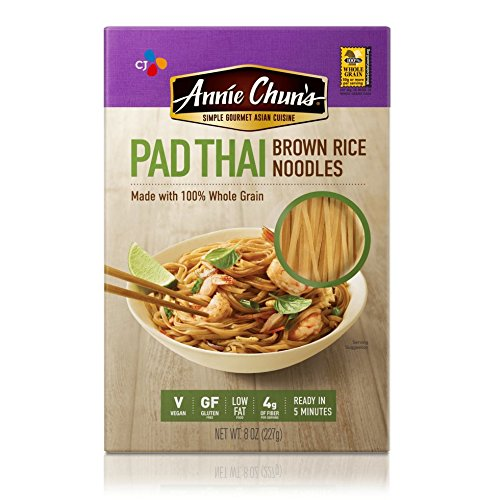 - Annie Chun's Gluten-Free Brown Rice Noodles, Pad Thai, Vegan, 8-oz (Pack of 6)