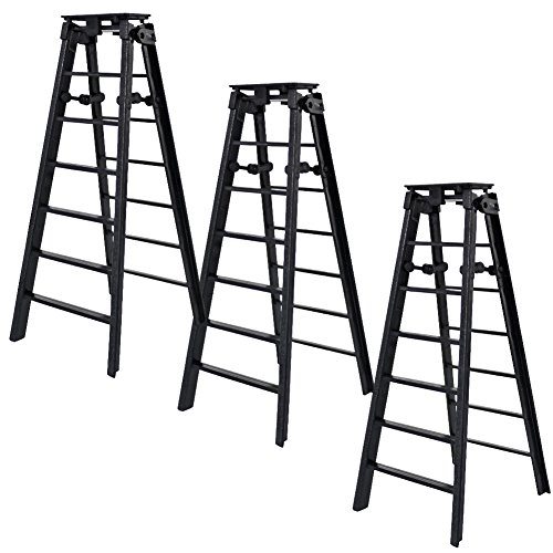 Set of 3 Black Ladders for WWE Wrestling Action Figures by Figures Toy Company