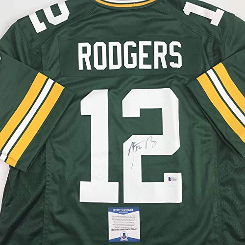 Autographed/Signed Aaron Rodgers Green Bay Green Football for sale  Delivered anywhere in USA