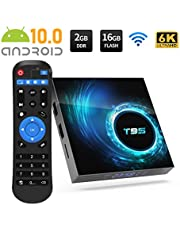 $39 » TV Box, T95 Android 10.0 TV Box 2GB RAM 16GB ROM 6K Ultra HD, AllWinner H616 64bit Support 3D USB HDMI H.265 2.4GHz WiFi Ethernet Smart Android Box