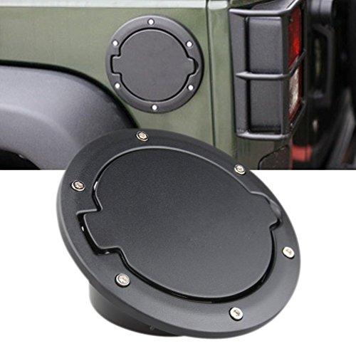 Door Cover Gas Tank Cap 4-Door 2-Door for 2007-2016 Jeep Wrangler JK & Unlimited ()
