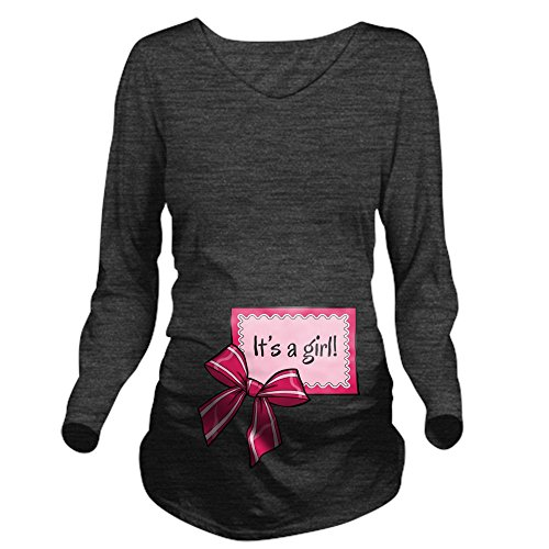 CafePress - Its a girl! Long Sleeve Maternity T-Shirt - Long Sleeve Maternity T-Shirt, Cute and Funny Pregnancy Tee