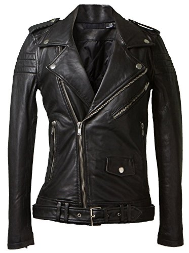 for lambskin women LL877 Genuine leather Leather by jacket Trendtales Black TqwppE7I