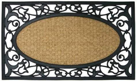 Rubber-Cal Celtic Sea Outdoor Coco Coir Decorative Rubber Doormat, 18 x 30-Inch
