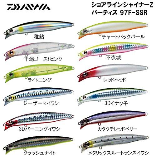 文芸成熟した印をつけるダイワ(Daiwa) シーバス ミノー ショアラインシャイナーZ バーティス 97F-SSR 3Dバー二ングイワシ ルアー