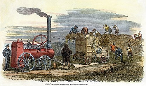 (Steam Thresher 1851NhornsbyS Steam-Driven Threshing Machine Demonstrated In The Open Field At The Great London Exhibition Of 1851 Contemporary English Engraving Poster Print by (18 x 24))