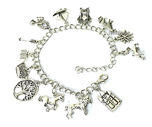 [The Chronicles of Narnia Theme Charm Bracelet (Silver)] (One Night Stand Costume For Girls)