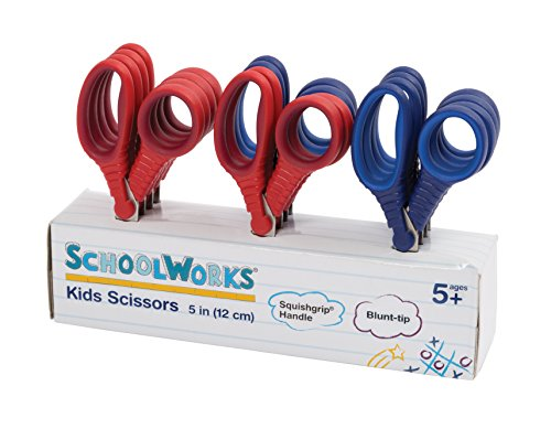 Schoolworks 153520-1004 Blunt Kids Scissors Classpack of 12, 5 Inch ()