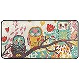 "Kitchen Rugs Cute Owls On Branch Design Non-Slip Soft Kitchen Mats Bath Rug Runner Doormats Carpet for Home Decor, 39"" X…"