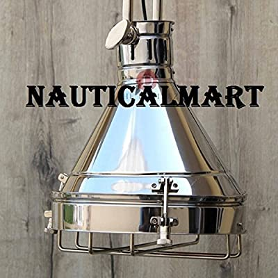 Nautical Nickel Grill Ceiling Retro Pendant Light for Living Room, Hallway, Dinning Room ceiling Light, Study Room, Bedroom, Kitchen Light By Nauticalmart