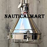 Nautical Nickel Grill Ceiling Retro Pendant Light for Living Room, Hallway, Dinning Room ceiling Light, Study Room, Bedroom, Kitchen Light By Nauticalmart