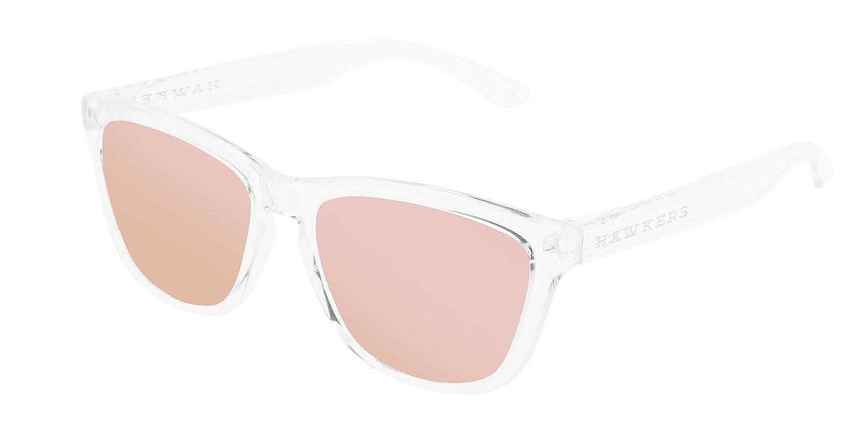 Hawkers Air Rose Gold One, Gafas de Sol Unisex, Transparente/Rosa