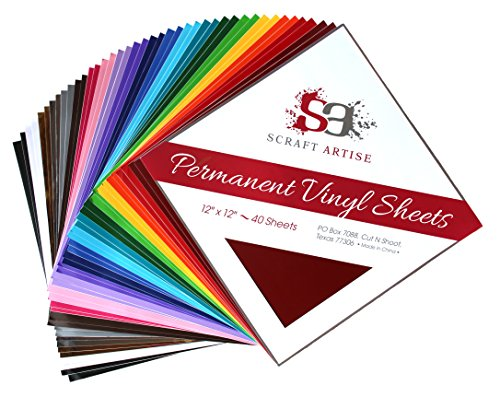 12x12-40-pack-permanent-adhesive-backed-craft-vinyl-sheets-in-matte-and-glossy-2-each-assorted-multi