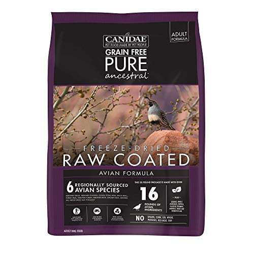 Canidae Pure Ancestral Raw Coated Avian Chicken, Turkey, Quail...