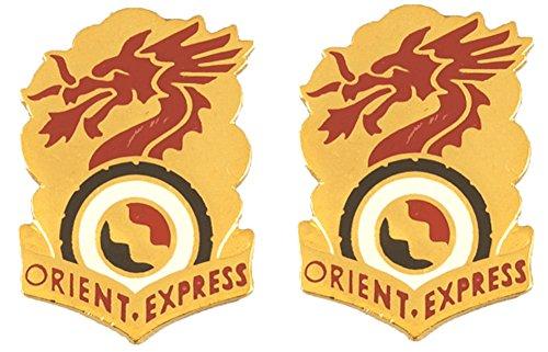 (7th Transportation Battalion Distinctive Unit Insignia - Pair )