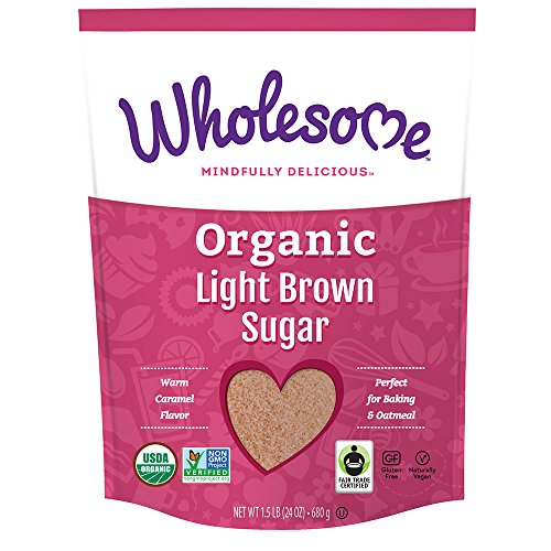 (Wholesome Fair Trade Organic Light Brown Sugar, Naturally Flavored Real Sugar, Non GMO & Gluten Free, 1.5 lb (Pack of)