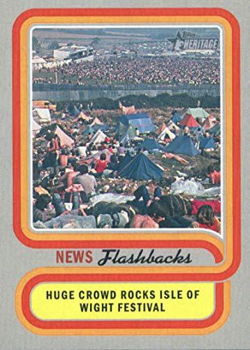 (2019 Topps Heritages Flashbacks #NF-7 Isle of Wight Music Festival Baseball)