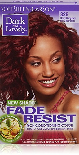 Amazon.com : Dark and Lovely Fade Resist Hair Dye, Berry Burgundy ...