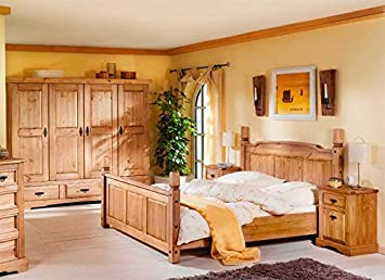 Pharao24 Schlafzimmer komplett massiv Kiefer Mex: Amazon.de: Küche ...
