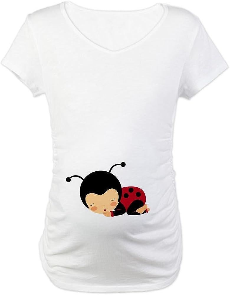 S Wei/ß Apparel CafePress Baby-Marienk/äfer Belly Schwangerschafts-T-Shirt