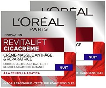 L'Oréal Paris Revitalift – Cicacrema – Crema antiarrugas y reparación – Antiedad – 50 ml – Lote de 2