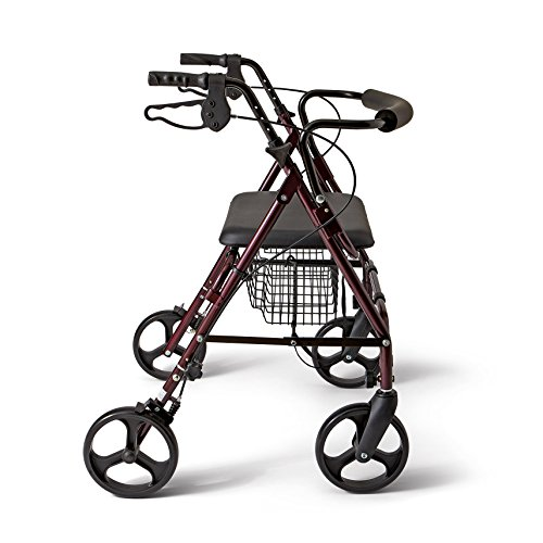 Medline Heavy Duty Bariatric Aluminum Mobility Rollator