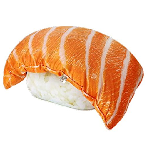 Sansukjai SALMON SUSHI Pillow Large Polyester Pillow 95 cm for Home Decoration Gift and - West Palm Stores Outlet Beach