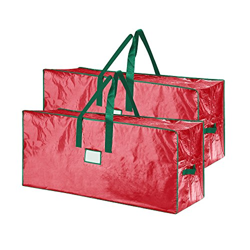 Elf Stor 83-DT5524 Christmas Storage Bags Holiday Large for up to 7.5 Ft Trees | Set of Two | Red