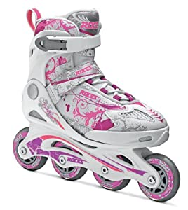 Roces Mädchen Inlineskates Compy 7.0, White-Violet,Pink, 38-41, 400779-001