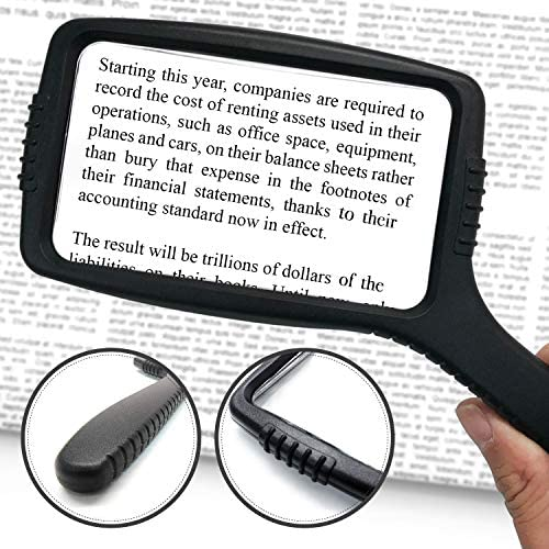 MagniPros Jumbo Size Magnifying Glass Wide Horizontal Lens(3X Magnification)