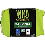Wild Selections Sardines in Spring Water, 4.22 Ounce (Pack of 12)