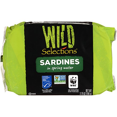 Wild Selections Sardines in Spring Water, 4.22 Ounce (Pack of 12) by Wild Selections