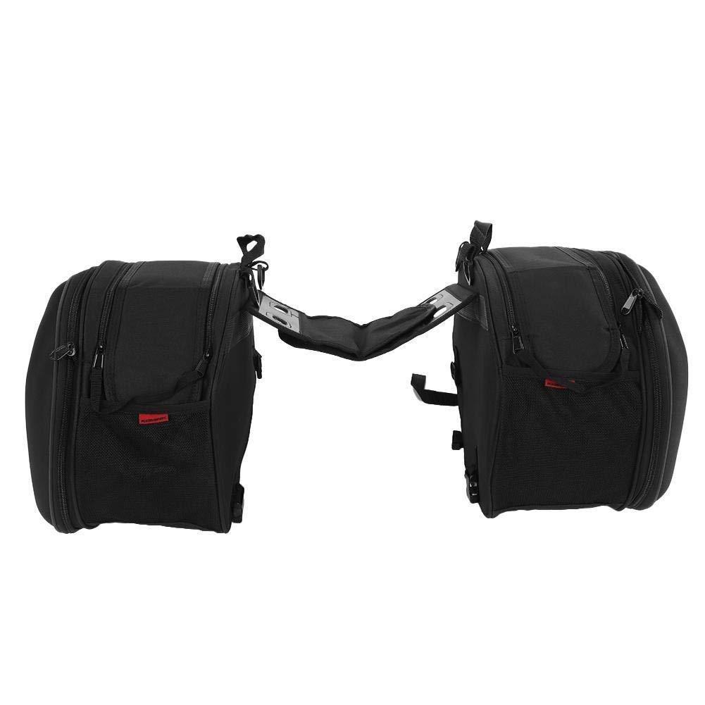 Borse laterali per moto, Set borse laterali da moto con chiusura lampo borsa per portapacchi, Set di 2 GOTOTOP