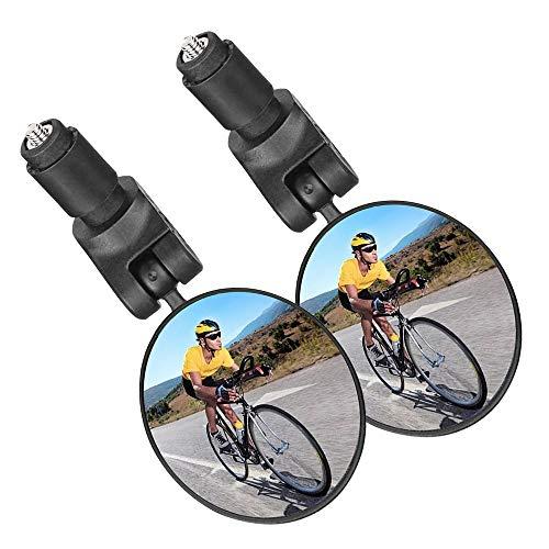 2 stuks fietsspiegels, achteruitkijkspiegel, 360 graden draaibaar, groothoeklens, veilige achteruitkijkspiegel voor 17,4…