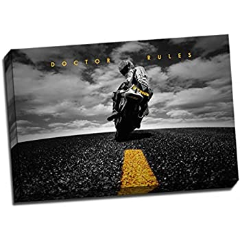 Panther Print Valentino Rossi Canvas Print Yamaha Motogp Poster Large 30X20 Inches A1