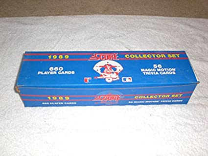 Amazoncom 1989 Score Baseball Complete Set 660 Cards Factory