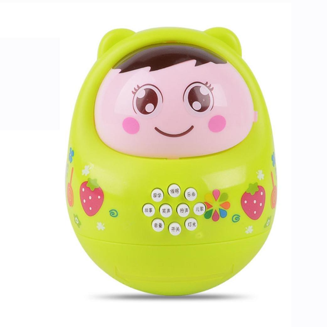 jouets éducatifs Longra Jouets musicaux Culbuto Bébé Education Puzzle Toys Plus de 6 mois bébé roly poly (9 * 12cm, Bleu)