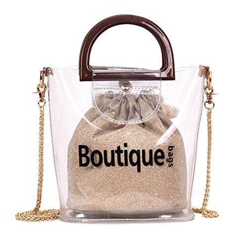 Borsa Rosso pezzi Borsa a a Dunland Catena Trasparente spalla tracolla 2 Borsa Lettera Women Handbags qg4x6Xf