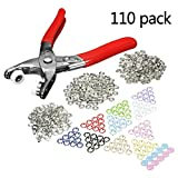 (US) KINGSO 110 Sets snap setter hand pliers setting tool ,Metal Ring Button Press Studs Sewing Craft Fastener Snap Pliers Craft Tool 9.5mm