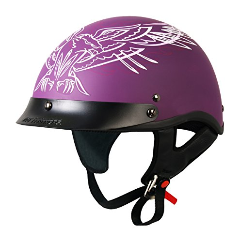 Hot Leathers DOT Approved Pinstripe Upwing Ladies Helmet ...