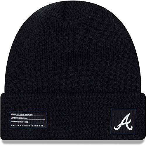 New Era Atlanta Braves Beanie MLB On Field Sport Knit Cap Navy Adult One Size