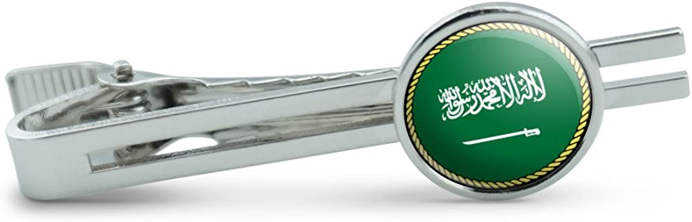 Made On Terra Flag of Saudi Arabia Men's Tie Clip Tack Bar