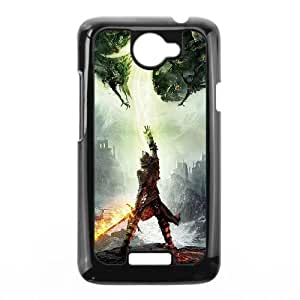 HTC One X Cell Phone Case Black dragon age inquisition game illust art electronic Jivpx