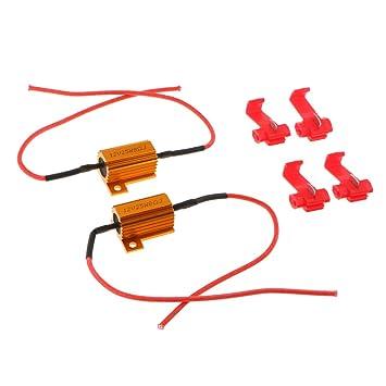 Sharplace 2 piezas 12 v 25 w resistencia de carga fijar señal de giro bombilla led hiper flash 8 ohmios: Amazon.es: Coche y moto