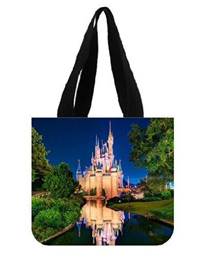 Angelinana Fashion Castle Orlando Cities Popular Style Printed Canvas Girl And Women Shopping Bag Two Side Tote - Shopping Orlando