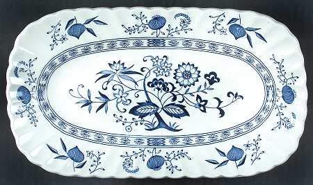 J & G Meakin England Blue Nordic 10 1/2