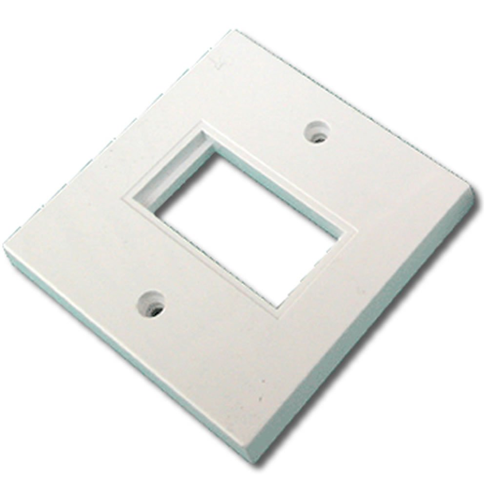 Kenable Faceplate 1 Port 86 x 86mm Single Port Low Profile for RJ45 Modules by Kenable (Image #1)